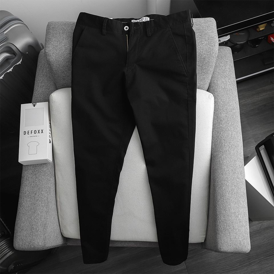 KAKI DEFOXX SLIM-FIT BASIC ĐEN