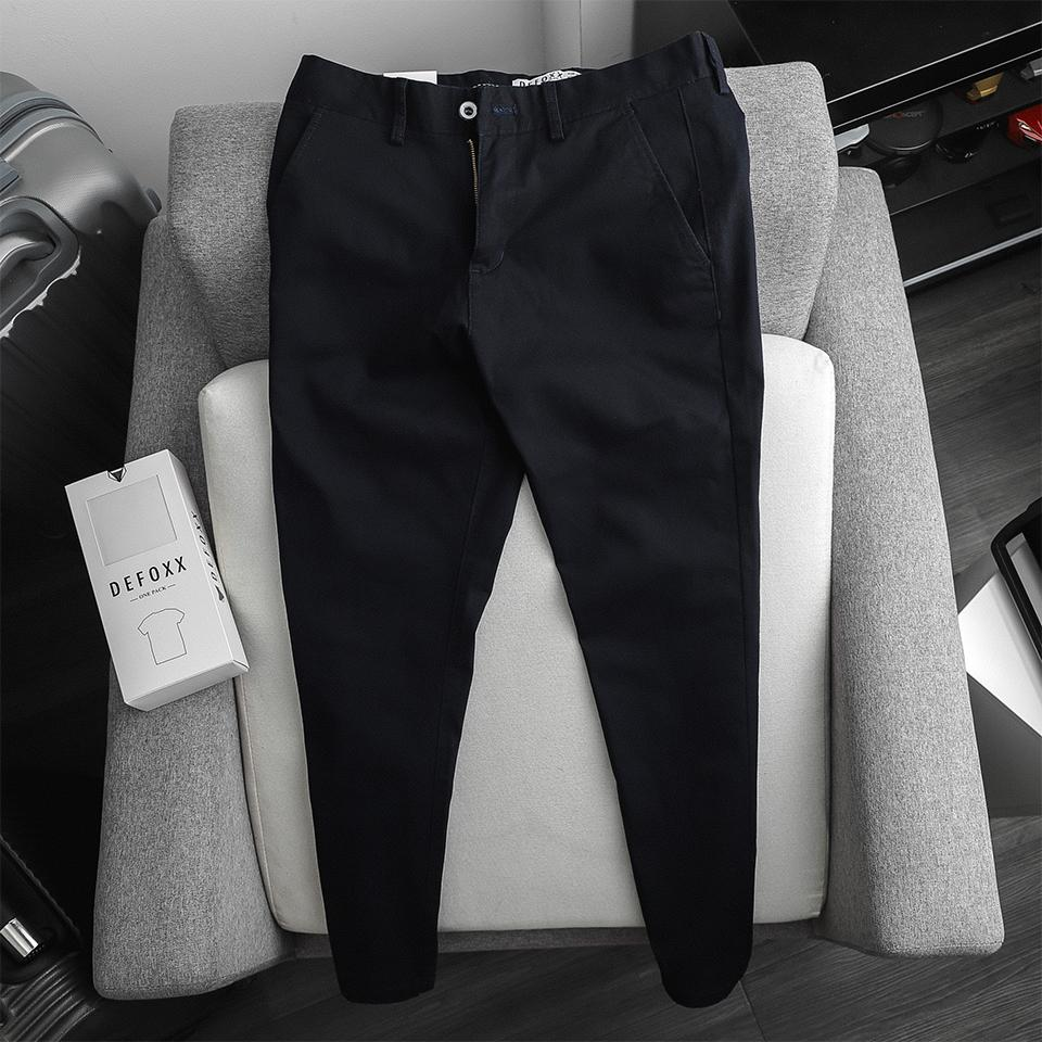 KAKI DEFOXX SLIM-FIT BASIC NAVY
