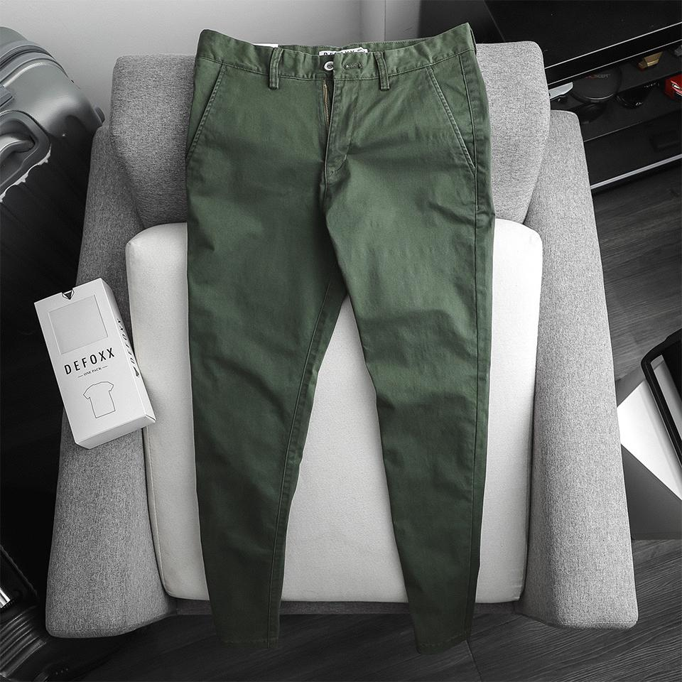 KAKI DEFOXX SLIM-FIT BASIC RÊU